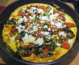Fox Trot Farm Greek Salad Frittata