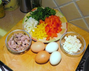 Greek Salad Frittata Ingredients