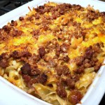 Cheesy Noodle Casserole with Lamb