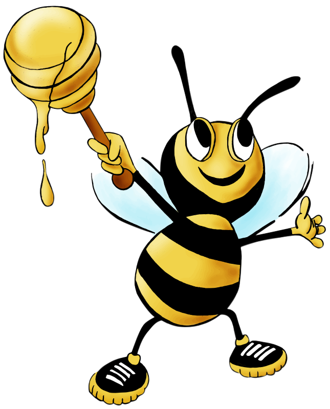 Bee with honey wand