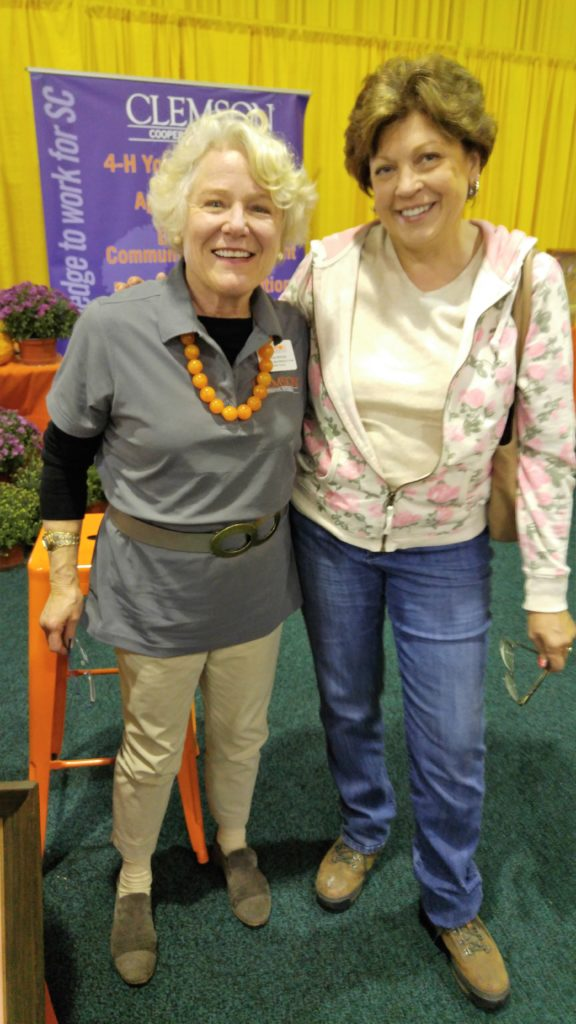 Amanda McNulty at the SC State Fair with Debbie Burgess of Fox Trot Farm