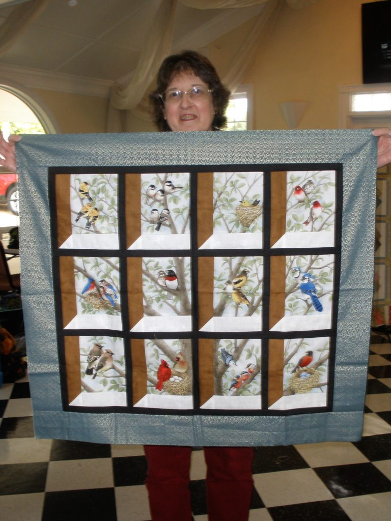 Jenny with attic windows quilt
