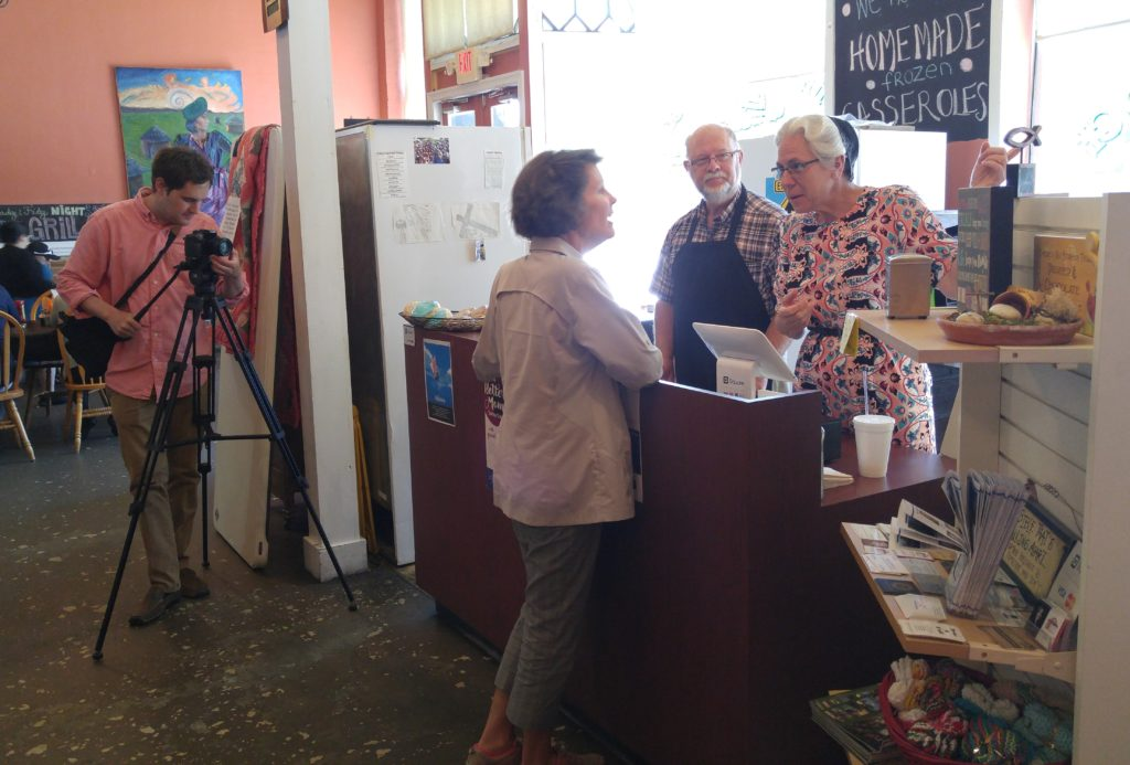 Susan in the Cheraw Chamber of Commerce video