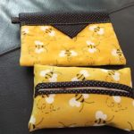 snap bags and tissue holder purse set