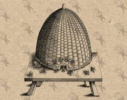 drawing of an old skep