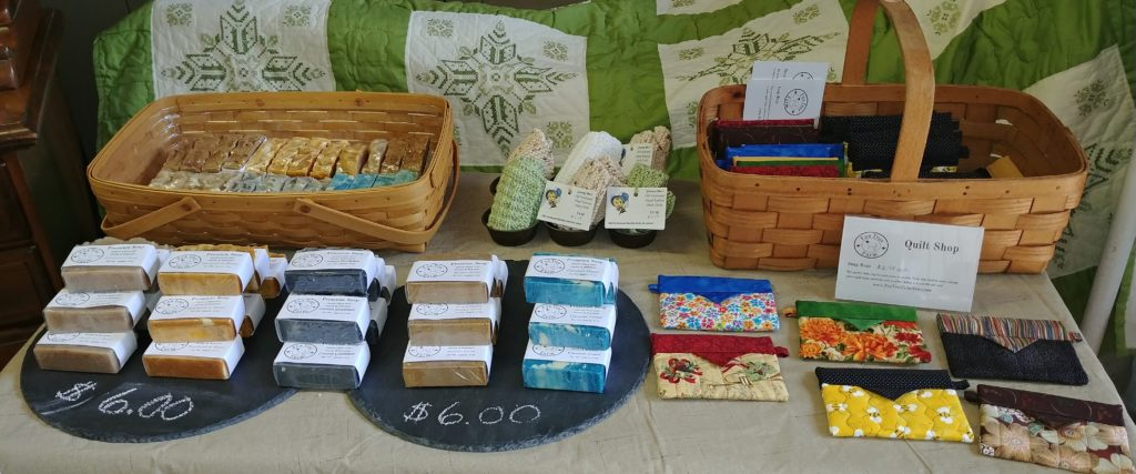 Fox Trot Farm Honey & Beeswax Soaps and Quilted Snap Bags