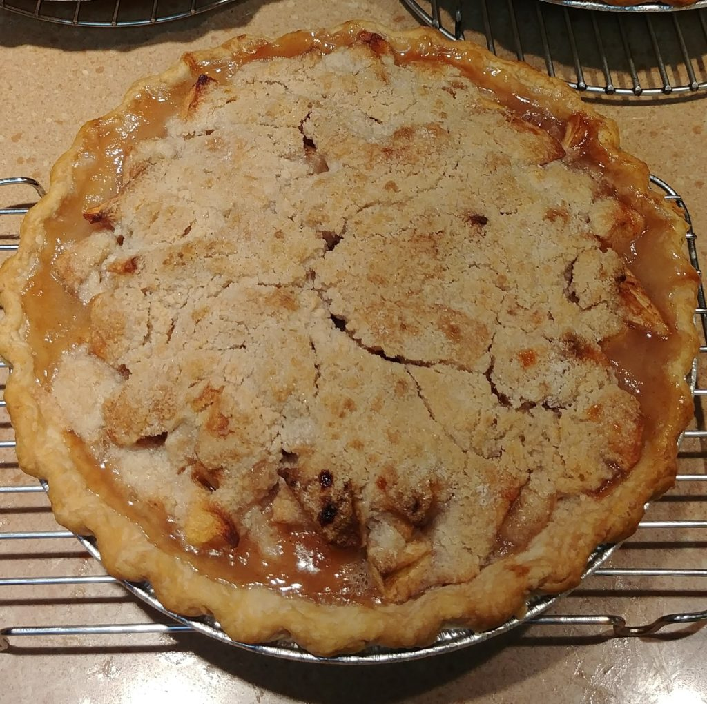 Dutch Apple Pie with honey