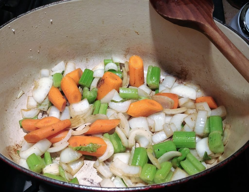 "Celery, onions, and carrots are commonly known as the ""holy trinity"" and is a great beginning to many dishes."