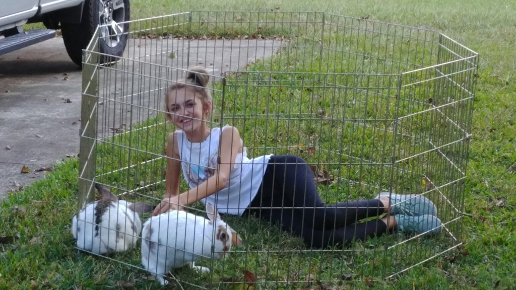 Margo with the Bunnies