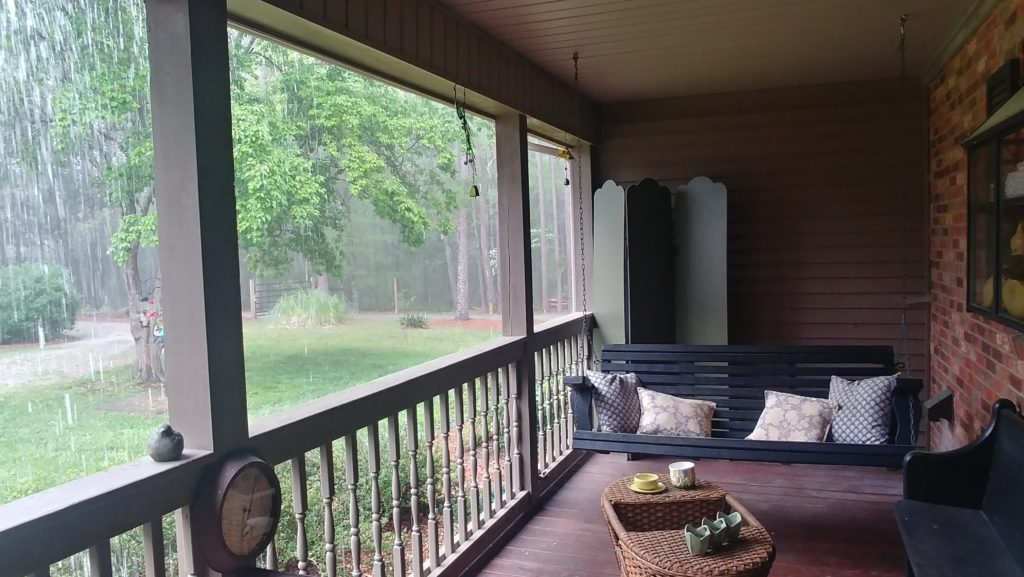 Porch sitting in the rain