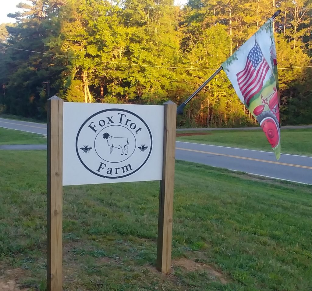 Fox Trot Farm Sign
