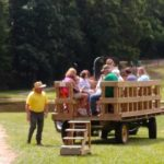 Wagon ride on Fox Trot Farm