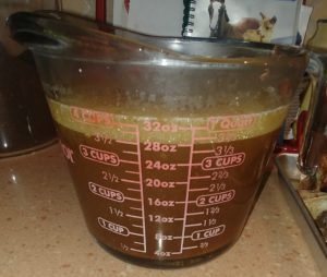 Measure lamb stock to at least 4 cups, adding more water if needed.